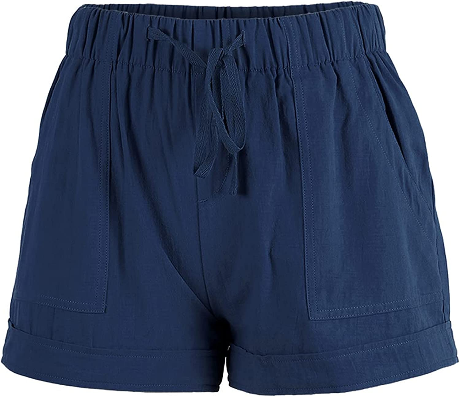 Summer Drawstring Shorts for Women All stores are sold Casual Waist Elastic Spring new work one after another Po Comfy