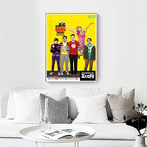 shuimanjinshan Big Bang Theory Movie Poster Wall Artist Home Decoration Canvas Art Nordic Living Room Hotel Bar Cafe (Pe-550) 50x70cm No frame
