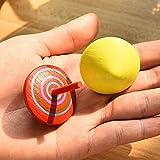 ZOEON 30 Stück Spielzeugkreisel aus Holz, Farbenfroher Bemalung Kreisel aus Holz für Kinder - 3