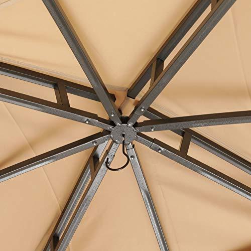 ABCCANOPY 10' x 12' Gazebos Patio Garden Gazebo with Mosquito Netting,Double Soft-top (Beige)