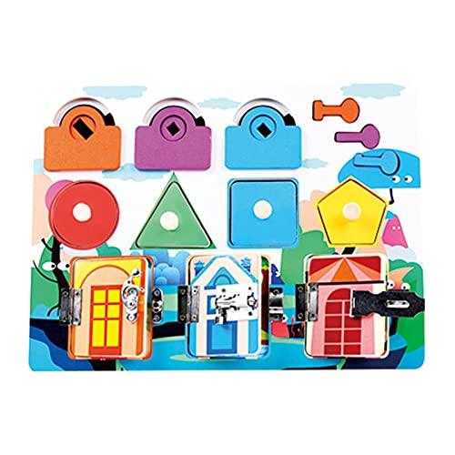 Montessori - Juego de mesa de actividad para niños pequeños de 1 a 3 años, gato de actividad, para aprender habilidades motoras finas, práctico juguete educativo precoz