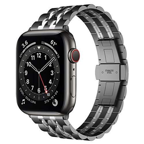 Para Apple Watch 6 Band Se Series 5 4 Correa para Iwatch 3 Pulsera Bandas de negocios de acero inoxidable Hombres Mujeres