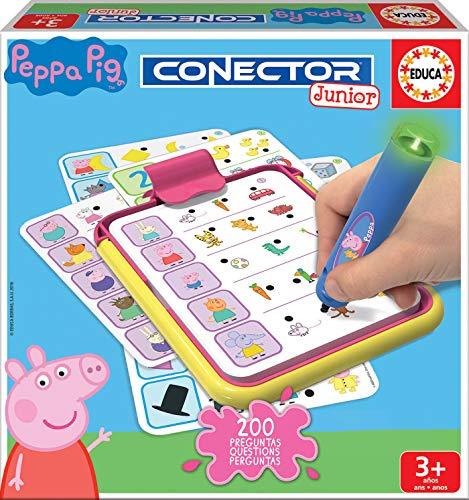 Educa - Conector Junior Peppa Pig: aprende sobre formas, colores, números, lógica...