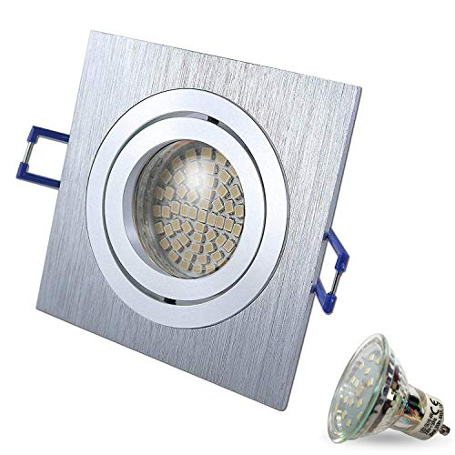 STAR 230V halogeen LED SMD plafond inbouwspot inbouwspots plafondspots QUADRAT