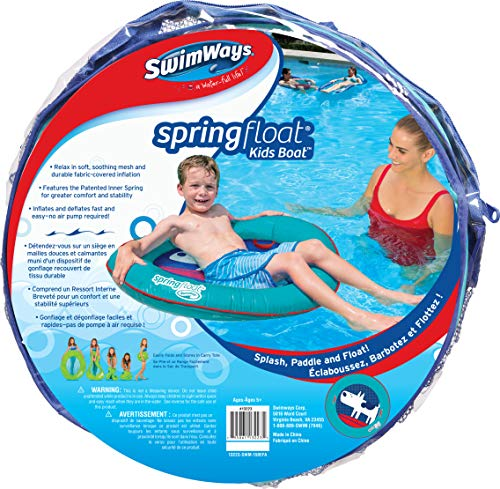 SwimWays 6046299 - Spring Float Kids Boat Wasserhängematte für Kinder