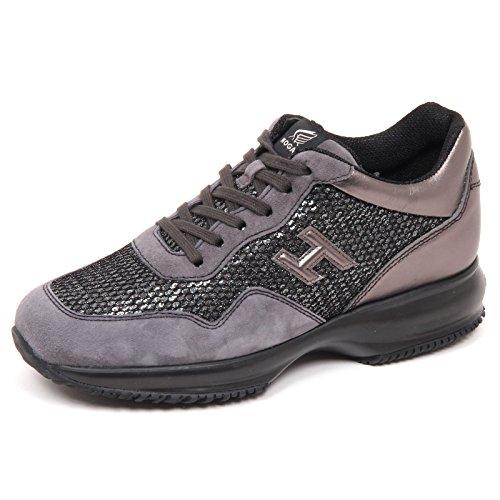 Hogan E4552 Sneaker Donna Grey Interactive Scarpe H 3D Paillettes Shoe Woman [38.5]