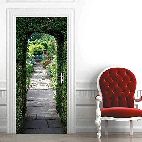 Warreal Adesivi per Porte del Corridoio di Pietra 3D di Protezione Ambientale Creativa Adesivi Murali Autoadesivi per La Ristrutturazione della Camera da Letto