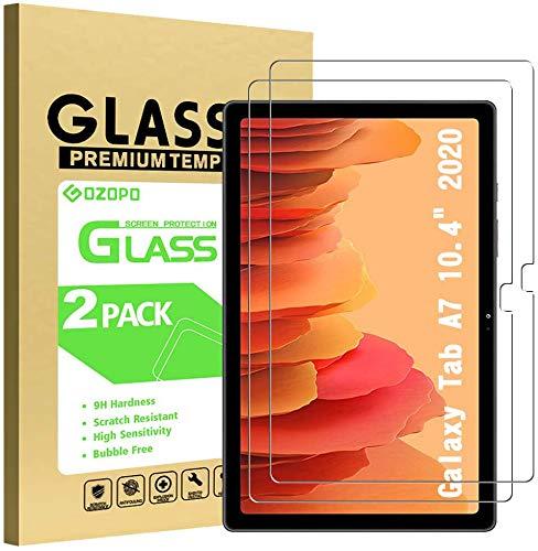 GOZOPO Bildschirmschutzfolie für Samsung Galaxy Tab A7 10.4 (2020) Modell T505/T500/T507, Premium 9H Festigkeit, 2.5D abger&ete Kanten, gehärtetes Glas Folie für Galaxy Tab A7 10.4 (2er-Pack)