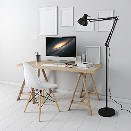 Staande lamp American LED 180cm vloerlamp, eenvoudige slaapkamer bed met lange arm plooien bescherming licht, 3C Full Lamp Certificering: (Wanneer de Folder Lights) LED