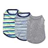 Yikeyo xs Puppy Clothes boy for Small Dog Chihuahua - 3 Pack Male Dog Shirts - Small Dog Clothes Male - Toy Dog Clothes boy - Pets Clothing Yorkie - Tshirts for Dogs Outfits Summer (3PC, Small)