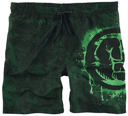 Hulk Smash Männer Badeshort schwarz/grün XXL 100% Polyester Fan-Merch, Filme, Marvel Comics