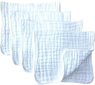 Paños de muselina para quemar, 4 unidades, tamaño grande, 20.0in por 10.0in, 100% algodón, 6 capas, extra absorbentes y suaves.
