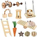 Furpaw Gioco per Roditori, Giochi Criceto in Legno Pulizia dei Denti, Naturale Giocattolo per Piccoli Animali Criceti, Conigli, Cavia