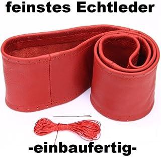 Lenkradbezug rot echt Leder 37 39 cm zum Schnüren Lenkrad Schoner