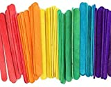 4.5' Colored Wooden Craft Sticks - Pack of 100ct