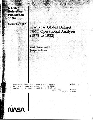 Five year global dataset: NMC operational analyses (1978 to 1982) (English Edition)