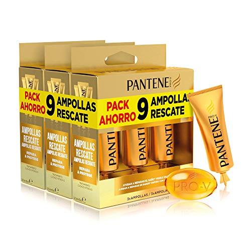 Pantene Repara Y Protege, 9 Ampollas Cabello Mujer, Como Vitaminas Para El Cabello, Tratamiento Hidratante Cabello, Ampollas Rescate 3 x 3 x 15 ml