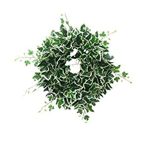 Artificial Sunflower Rattan Eucalyptus Leaves Wreath Spring Summer Silk Sunflower Vine Artificial Flowers Garland with Green Leaves for Wedding Party Table Decoration