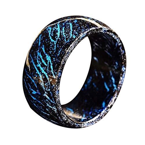 Dreafly Anillo de dedo luminoso resplandor anillo brillante en la oscuridad joyería unisex decoración fluorescente brillante anillos para mujeres y hombres
