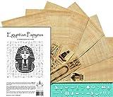 NileCart Hojas en blanco de papiro egipcio, 20,3 x 30,5 cm, con regla y marcadores de...