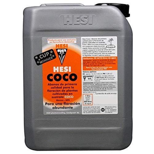 Fertilizante Hesi Coco Especial para Cultivos de Cannabis y Marihuana. Mejora su Crecimiento y Floración. No Sulfurada. Producto CE. 20Litros