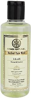 Khadi Natural Herbal Ayurvedic Neem and Tea Tree Face Wash Anti Acne (210 ml)