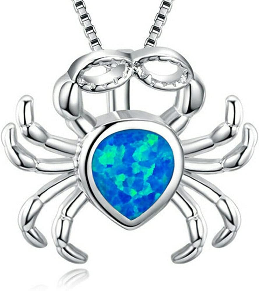 Women Fashion Charm Pendant Necklace Chain Lover Jewelry Gifts (Crab)