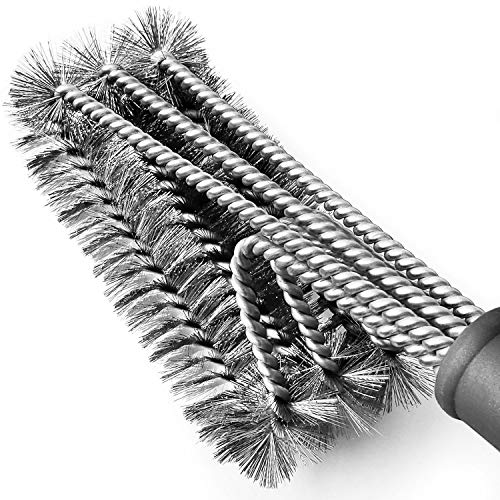 "Tarvol BBQ Grill Brush Stainless Steel 18"" Barbecue Cleaning Brush w/Wire Bristles & Soft Comfortable Handle - Perfect Cleaner & Scraper for Grill Cooking Grates"