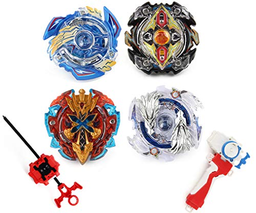 Elfnico Bey Battle Gyro Burst Battle Evolution Metal Fusion Attack Set with 4D Launcher Grip Battle Set