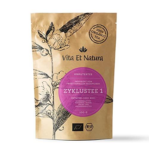 Vita Et Natura Zyklustee 1 - 100g loser Kräutermischung inspiriert von traditionellen Rezepturen - mit Himbeerblättern - 100% BIO / DE-ÖKO-001