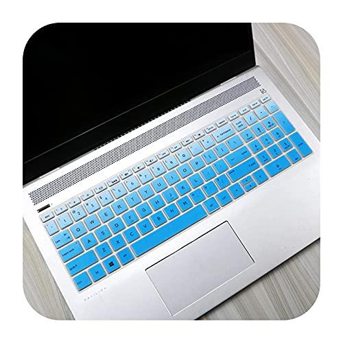 15 15,6 pollici Notebook Tastiera Cover Protector Skin Per HP Envy X360 15-bd001TX PAVILION 15-CB073TX 15-CB075TX 15-BR001TX-Gradual Blu