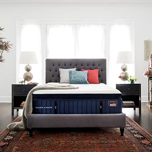 Fantastic Deal! Stearns & Foster Reserve, 16-Inch Luxury Plush Euro Pillowtop Mattress and 9-Inch Fo...