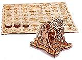 Puzzle madera 3D - Juego de Piratas con ruleta de la fortuna mecánica