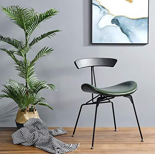 WTDlove Sillas De Comedor con Estilo Sillón De Sala De Estar Tapizado Silla Lateral con Base De Metal De Acero Moderno Acento Maquillaje Sillas para Cocina Comedor Sala De Estar(Color:Verde)