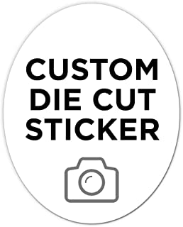 """150 Oval Custom Die Cut Stickers 4"""" x 5"""" for Laptops, Windows, Cell Phones, Cars. Upload Your own Image, Logo, or Design…"""