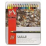 Caran d´Ache 0666.318 Pablo Farbstifte Metalletui mit 18 Farben