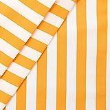 Liegestuhlstoff Outdoorstoff Stoff Breite 45 cm Meterware Blockstreifen Gelb-Weiss