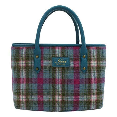 Ness Beautiful Damen-Handtasche aus Tweed, mehrfarbig, Mehrfarbig - Clova Classic - Größe: One Size