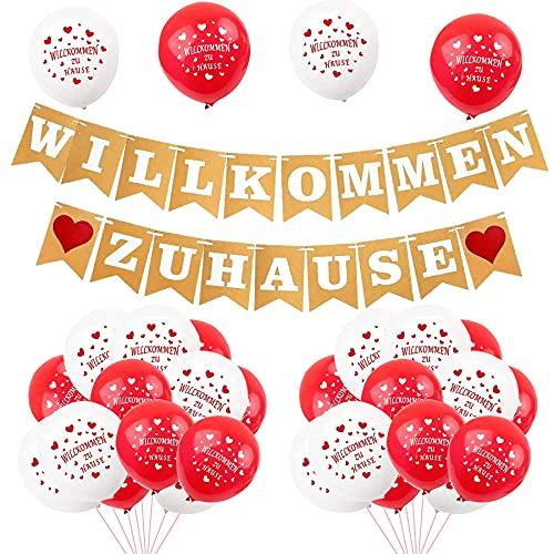 30 globos de 21 pulgadas, de gran calidad, de bienvenida a casa, pancarta de bienvenida para casa, guirnalda para fiestas familiares
