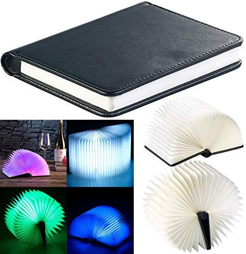 Lunartec Lámpara de Libro: Luz Ambiental LED Plegable en diseño de Libro, 5 Colores, 0,2 vatios (Luz de Libro)