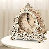 ZMZS 3D Wooden Puzzles Models for Adults Kids to Build, Desk Table Clock Model Making Kits Laser-Cut...