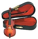 GEWA 980620 - Instrumentos en miniatura, contrabajo con arco y estuche, 11 cm