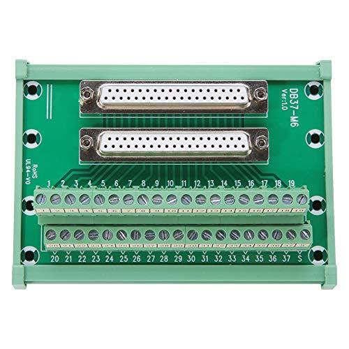 DB37-M6 Dubbele Vrouwelijke Hoofd DIN Rail Mount Interface Module Terminal Adapter Block Plaat Board Connector