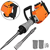 VEVOR Electric Demolition Hammer 1500W Electric Jack Hammer Breaker 65A Demolition Hammer Drill with 360°...