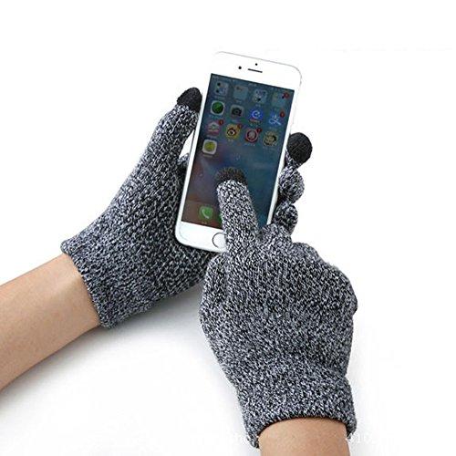 Gants d'Hiver Tactile Gants Chauffants En Laine de Cachemire Doux Gants de Sport Antidérapants Gants Pour Vélo/ Cyclisme/ Moto Gants à Écran Tactile Pour Smartphones Tablettes GPS Homme Femme