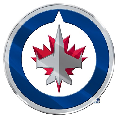 FANMATS Winnipeg Jets Heavy Duty Aluminum Color Emblem