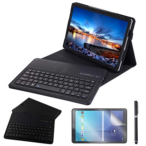 Galaxy Tab S4 10.5 Keyboard Case, REAL-EAGLE PU Leather Case with Detachable Wireless Bluetooth Keyboard for Samsung Galaxy Tab S4 10.5 inch 2018 SM-T830/T835/T837 Tablet (Galaxy Tab S4 10.5, Black)