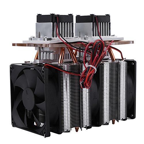 Akozon Refrigerador Termoeléctrico Sistema de Refrigeración 144W Dual-core Semiconductor Peltier Refrigeración por aire Equipo de Deshumidificación