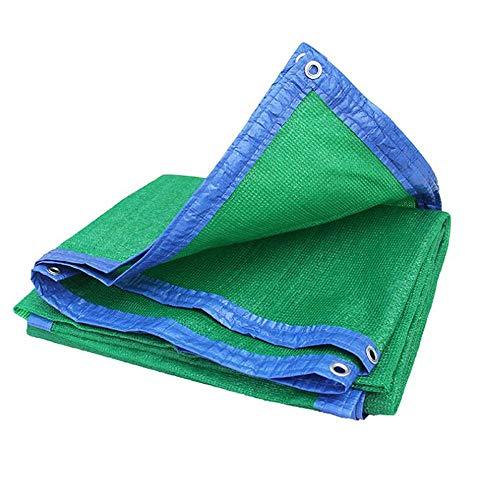 Zaixi Débloquer le tissu d'ombre avec des œillets 80% vert pour la couverture végétale à effet de serre grange chenil piscine Pergola ou piscine Grande dimension (Couleur : Green, taille : 3x5m)