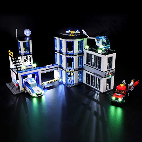 BRIKSMAX Kit di Illuminazione a LED per Lego City Stazione di Polizia, Compatibile con Il Modello Lego 60141 Mattoncini da Costruzioni - Non Include Il Set Lego